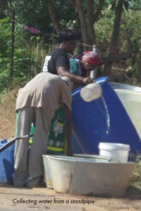 Collecting water from a standpipe