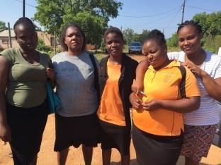 Manzini team, Annah, Agnes, Gugu, Lerato, Nonhlanhla
