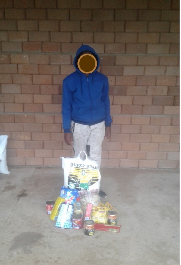 Sam. Mba. receiving a food parcel